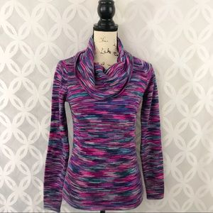 The Limited Cowl Neck Multi-Color Sweater